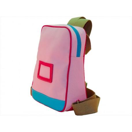 Backpack leather / textile zipper closure Rosa