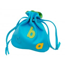 Light Blue Judas Bag abc letters