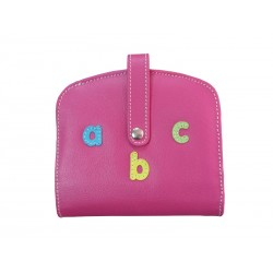 Fuchsia Wallet Card Holder Wallet abc letters Mouthpiece