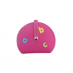 Fuchsia Wallet Card Holder Wallet abc Letters