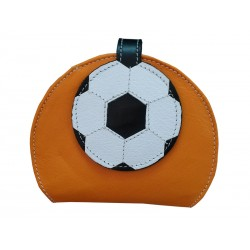 Orange Wallet Purse Soccer ball