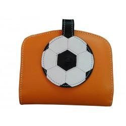 Orange Wallet Card Holder Wallet soccer ball Nozzle