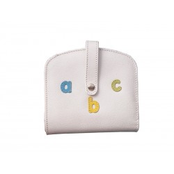 Purse Wallet Card Holder Letters abc Nozzle White