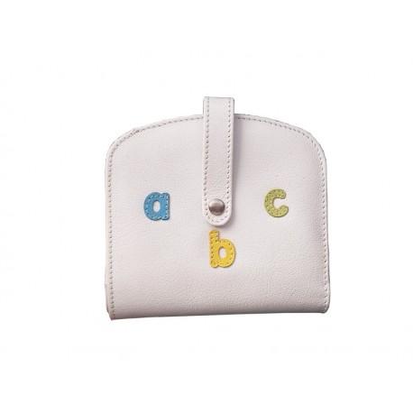 Purse Wallet Card Holder Letters abc Nozzle White