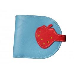 light blue Wallet Purse Strawberry