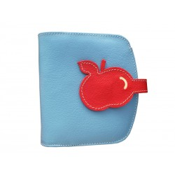 light blue Purse Wallet Card Holder Nozzle Apple