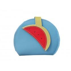 Light blue Purse Wallet Card Holder Watermelon