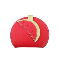 Red Purse Wallet Card Holder Watermelon